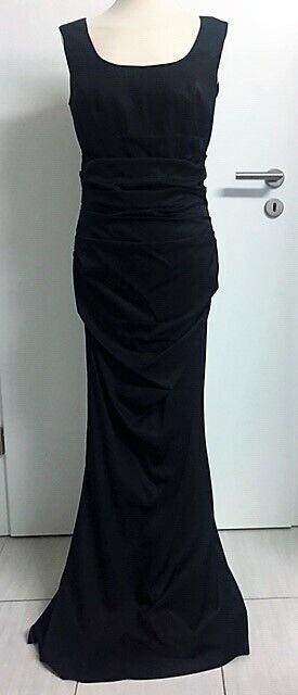 Ella Singh Abendkleid schwarz 38 Traumkleid fast NEU