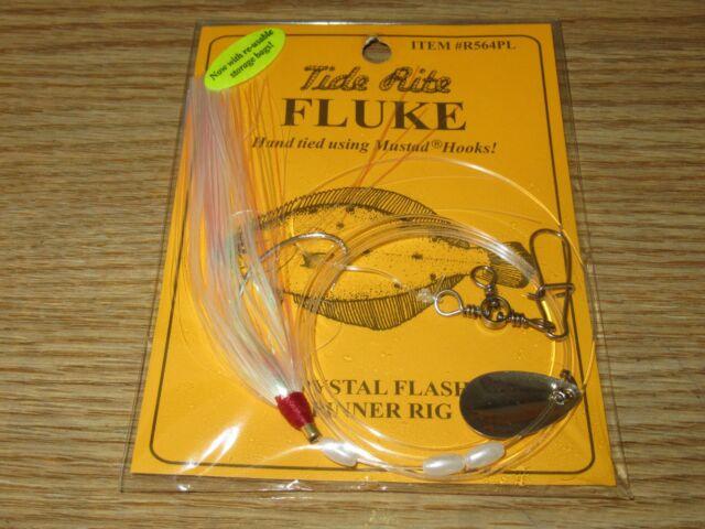 6 Fluke Rigs Flatfish Tide Rite R564pl Flounder Saltwater Rig Fishing Mustad for sale online