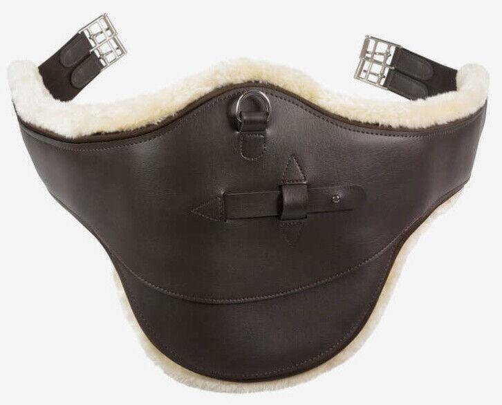 Horze Atlanta Faux Sheepskin Lined Dark braun PU Leather Stud Girth