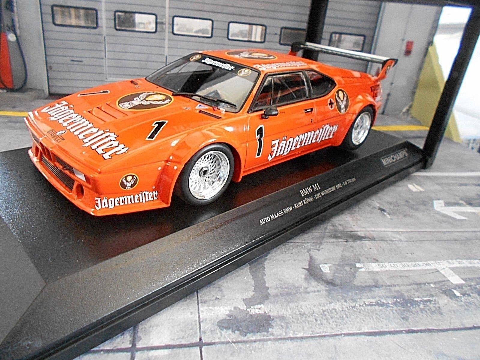 Bmw m1 e26 DRM wunstdorf 1982 Kurt König Jägermeister Minichamps 1 18