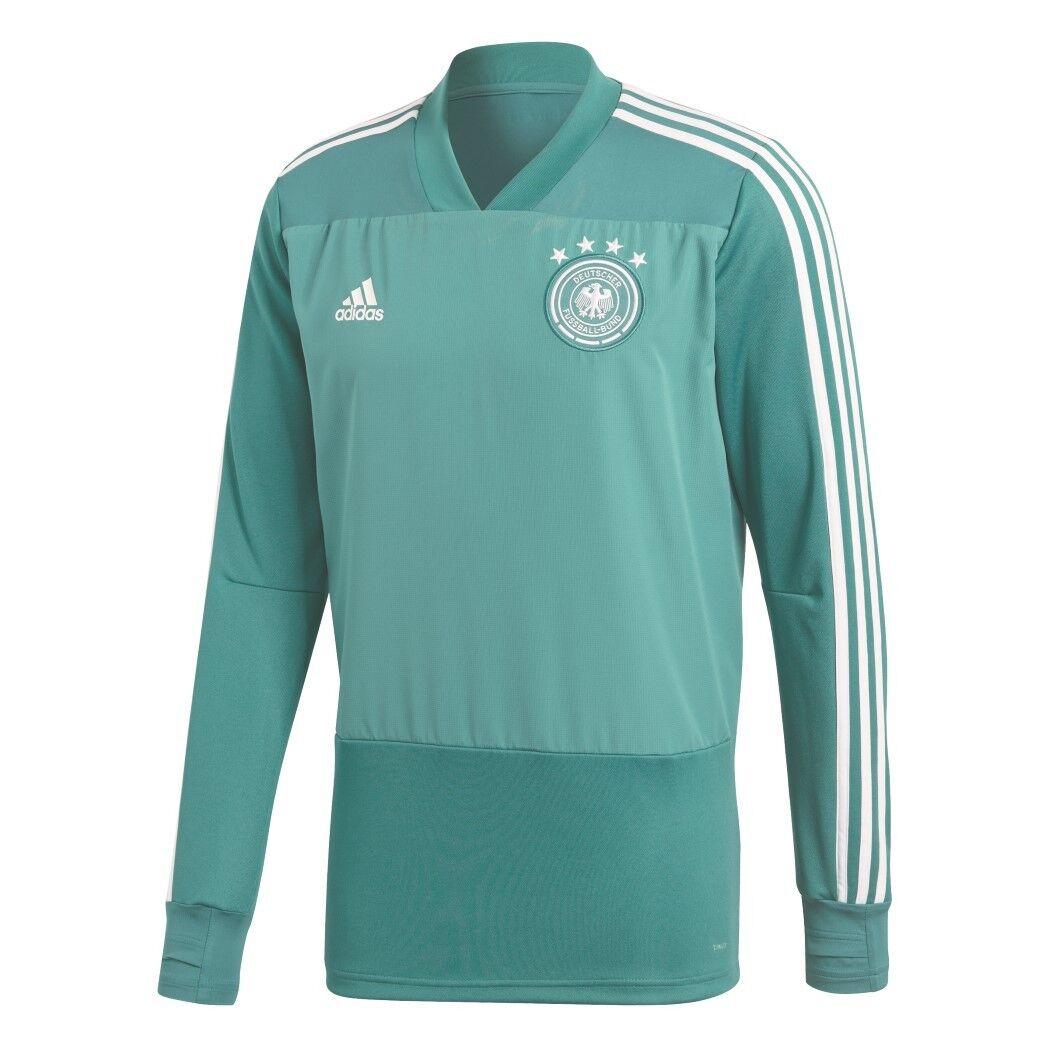 Adidas DFB Trainingstop Pullover Herren Deutschland WM 2018 grün     weiß 45e336