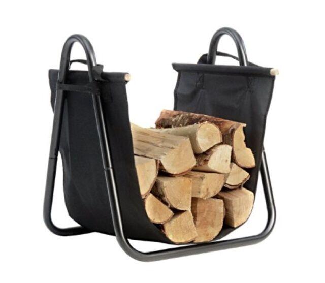 ShelterLogic Hearth Accessories Log Holder w/Canvas Carrier 90391 Log Holder NEW