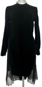 SACAI-BLACK-PLEATED-BACK-SWEATER-DRESS-S-M-1100