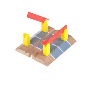 Wooden-Railway-Accessories-Railroad-Crossing-Bridge-Train-Slot-Track-Toys-G9A