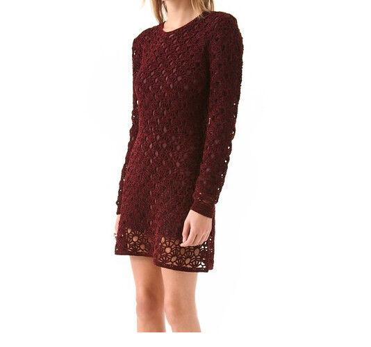 NEW   Theory Theyskens Keify damen designer sweater dress yupy deep rot sz M