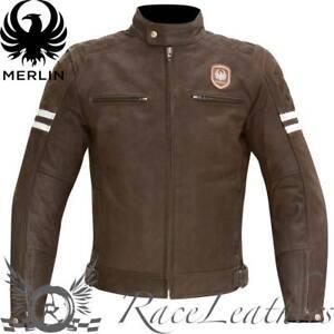 MERLIN-HIXON-Heritage-marron-mate-Cuero-Retro-Moto-Cubierta