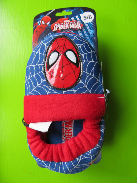 5//6 7//8 NEW Spiderman Marvel Toddler Boys Glow in the Dark Slippers Size S M