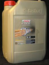 20 Liter Castrol EDGE FST Turbo Diesel 5W-40 Motoröl  5W40  VW , FORD , BMW , MB