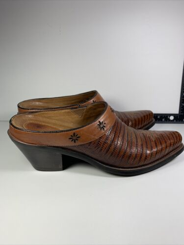 Ariat Leather Western Shoe 9B Cowboy Boot-Style Sl