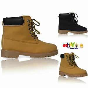 MENS WOMENS CASUAL RUBBER GRIP SOLE LACE UP ANKLE STYLE LADIES SHOES BOOTS SIZE