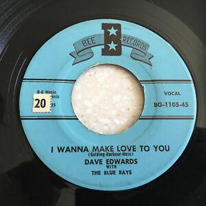 ROCKABILLY-Dave-Edwards-amp-Blue-Rays-BEE-1105-1958-039-45-rpm-Juke-Box-Stomper