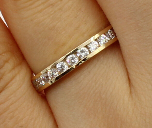 14k Yellow Gold 0.50 ct Round Baguette Diamond Wedding Band Anniversary Ring