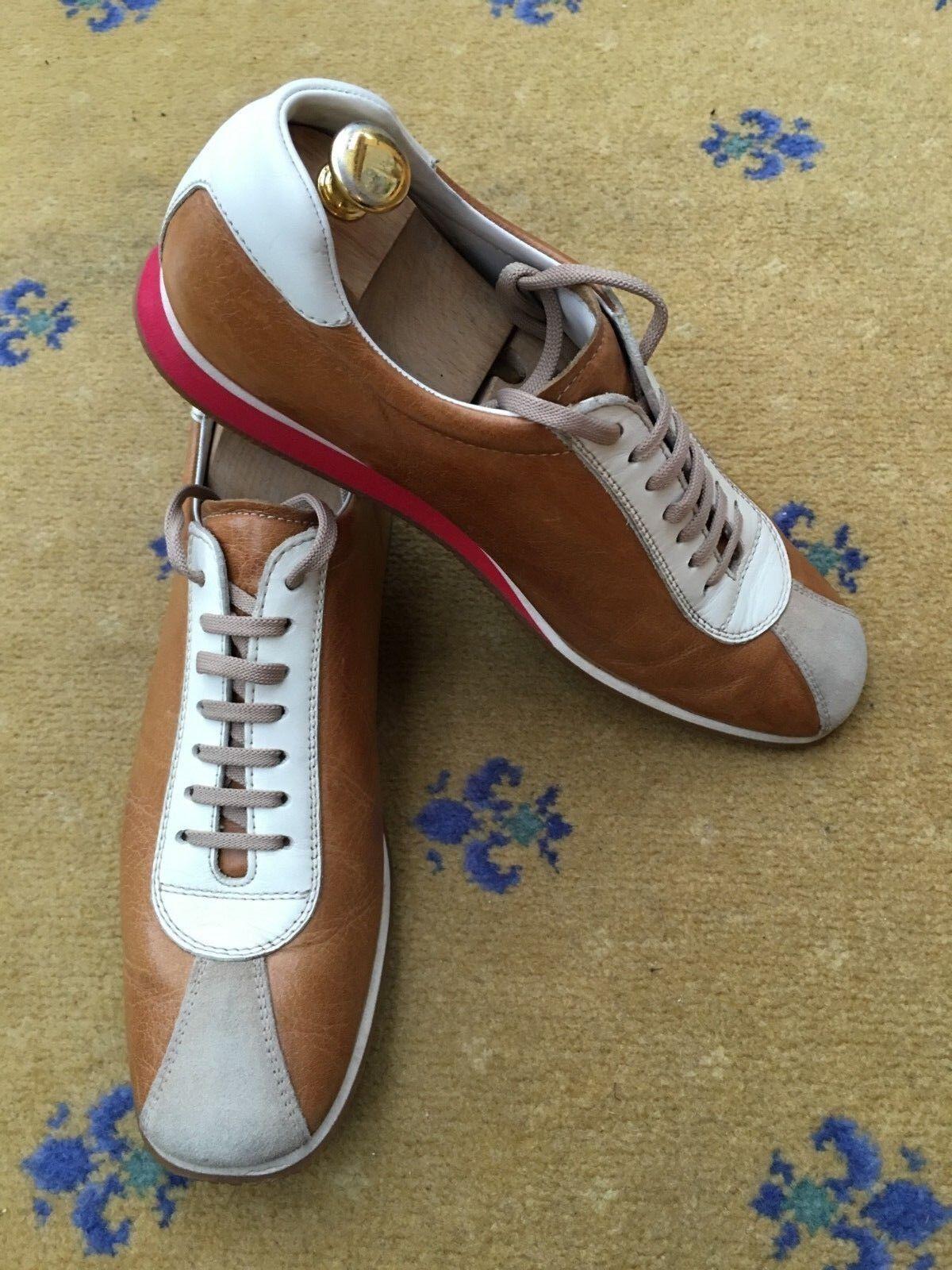 Miu Miu by Prada  Tan  Herren Tan  Braun Leder Trainers Sneakers Schuhes UK 9 US 10 EU 43 ec234a
