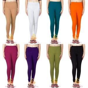 99187aea06 Image is loading Indian-Women-Cotton-Churidar-Leggings-Ethnic-Yoga-Pants-
