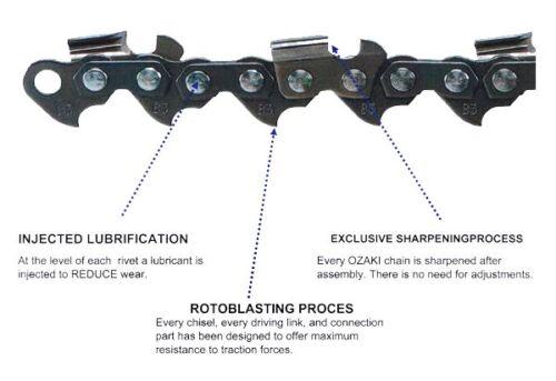 "Ozaki 14/"" Low Profile Premium Quality Chainsaw Chain Fits Stihl 017 MS170 MS171"