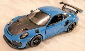 Kinsmart-1-36-Scale-Model-Porsche-911-GT2-RS-Blue-BBKT5408DBL
