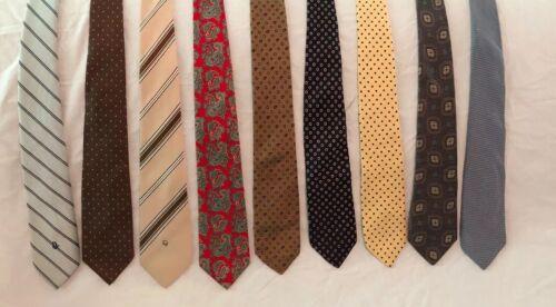 """9 Vintage Neck Tie 3"""" Dior, Gimbels, Harrods, NaN"""