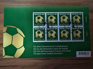 Kleinbogen, 125 Jahre / years Schweizerischer Fussballverband, Swiss Football ET