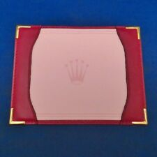 AUTHENTIC ROLEX RED LEATHER NOTELET (RARE)