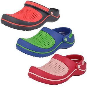 new product 5c103 2d268 Dettagli su Offerta Bambini Sintetico Zoccoli Crocs Crosmesh 3 Colori  Disponibili