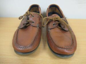 Marks and Spencer American Leather Collection Marron Pont Chaussures Taille UK 7 (C448)
