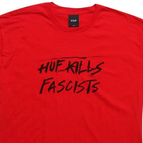 $36.00 Huf Kills Fascists Tee red 00025RED
