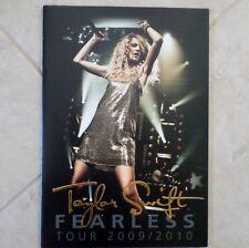 TAYLOR SWIFT Fearless Tour 2009/2010 Concert Tour Program Book