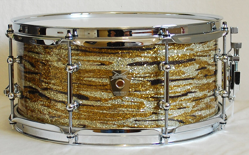 Ludwig Snare Classic Oak 13x6 Brass Oyster Glass