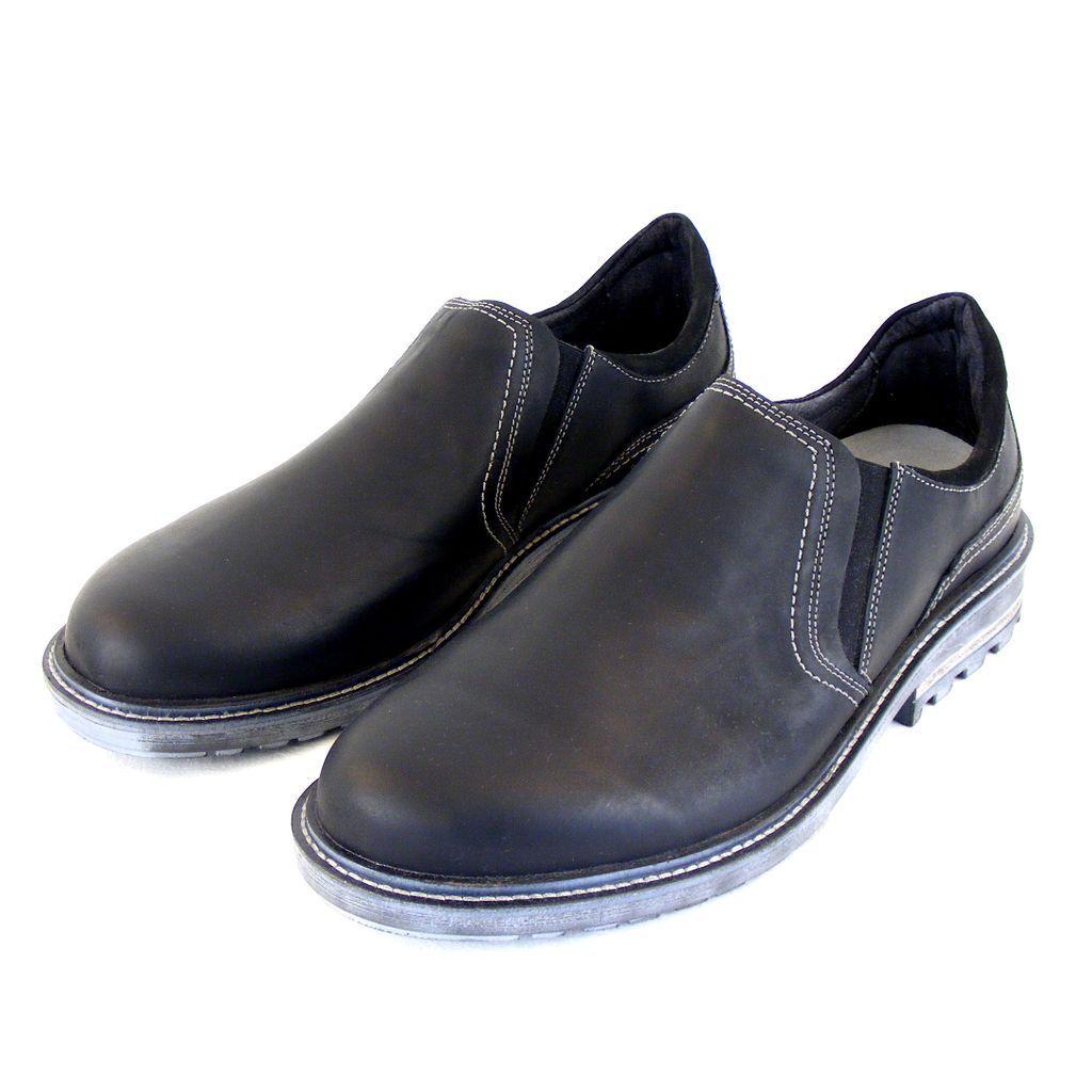 Naot Herren Schuhe Slipper Manyara Echt-Leder schwarz 14912 Wechselfußbett
