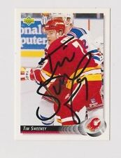 92/93 Upper Deck Tim Sweeney Calgary Flames Autographed Hockey Card