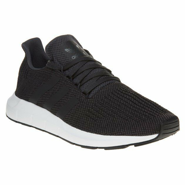 New MENS ADIDAS GRAY BLACK SWIFT RUN TEXTILE Sneakers Running Style