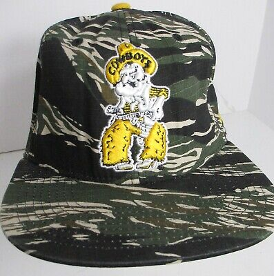 Cowboys Wyoming Hat Cap Snapback Cowboy Joe NCAA Zephyr Brand Camouflage  Med | eBay