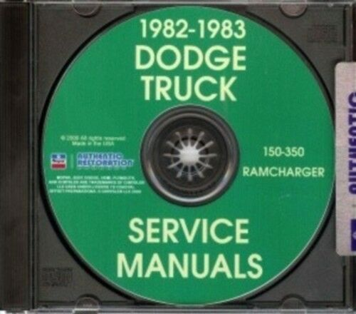 DODGE 1982 /& 1983 Pick Up /& Truck Shop Manual CD 82 /& 83