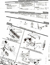 TOYOTA CORONA MARK II RT62 63 72 73 78 79 BODY PARTS LIST CRASH SHEETS MOFRE