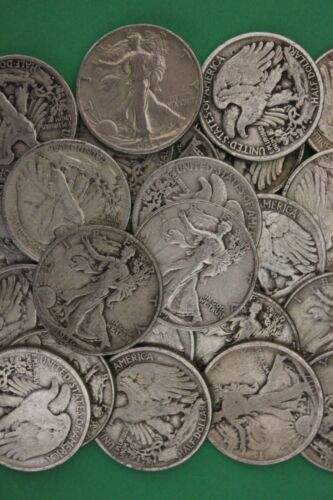 MAKE OFFER 1 Troy Pound Walking Liberty Half Dollars Junk 90/% Silver Coins