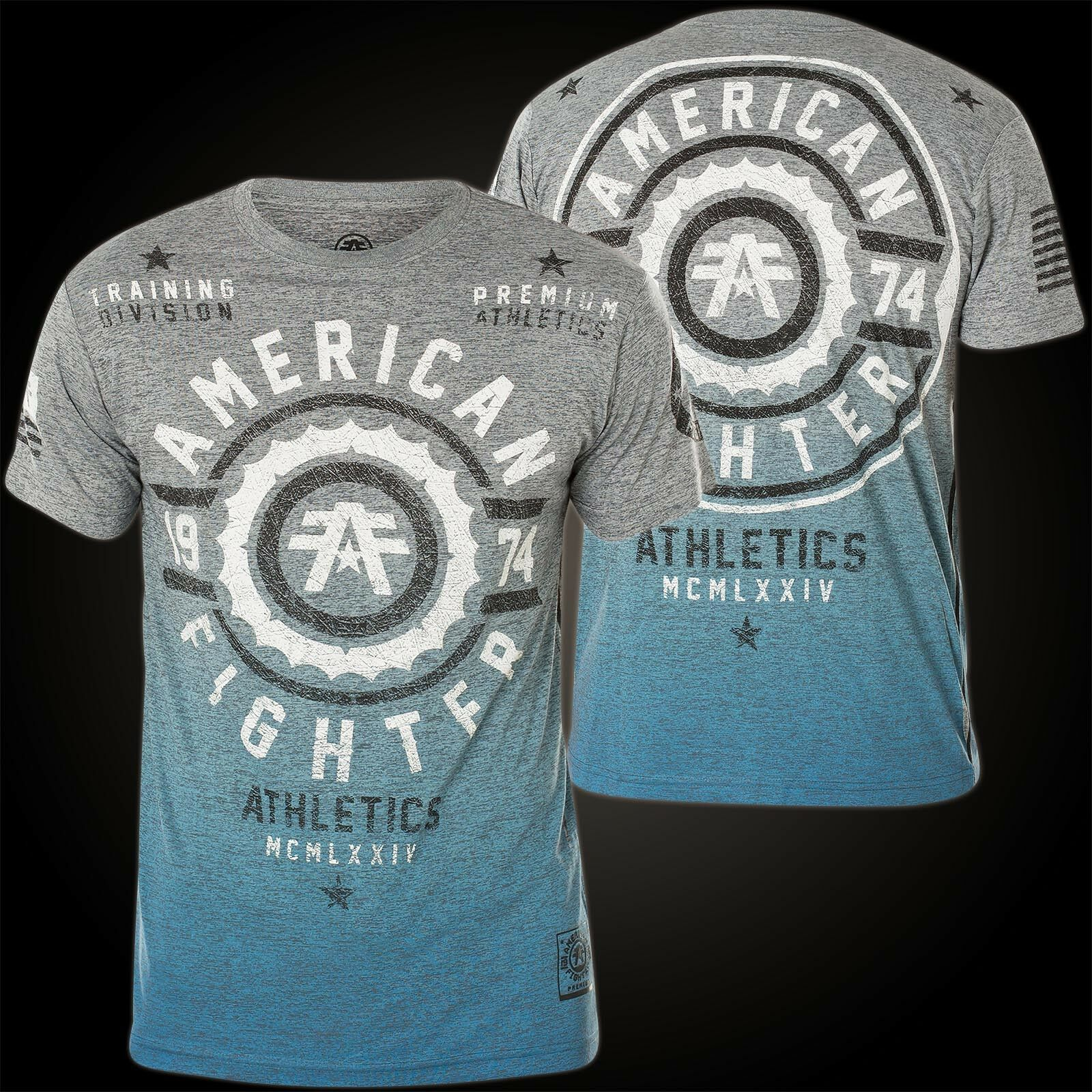 American Fighter by Affliction T-Shirt Fair Grove Grey bluee