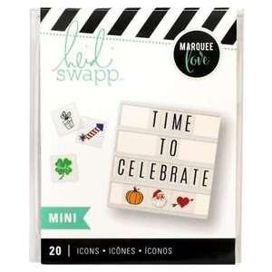 American Crafts Holiday 20 Piece Heidi Swap Lightbox Mini Icon Inserts