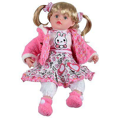 """14"""" Girlie Paws Soft Bodied Sitting Doll With Plastic Face (ruth) (es102) Onderscheidend Vanwege Zijn Traditionele Eigenschappen"""