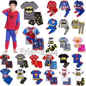 Boys-Girls-Toddler-Baby-2pcs-Kids-Pajamas-Nightwear-Sleepwear-Casual-Outfits-Set
