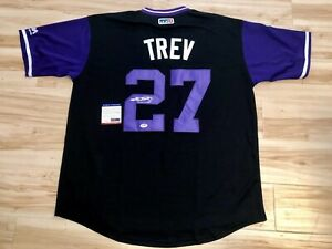 new style 7ebeb d4aff Details about TREVOR STORY HAND SIGNED COLORADO ROCKIES NICKNAME JERSEY PSA  DNA AUTHENTICATION