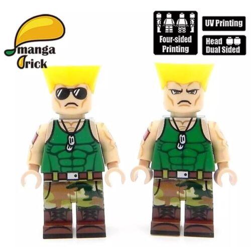 **NEW** MANGA BRICK Custom Street Fighter Guile Lego Minifigure
