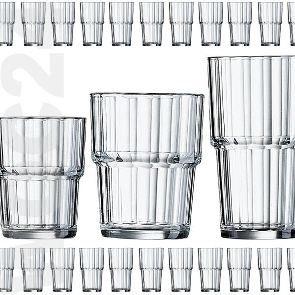 6 Trinkgläser Wassergläser Saftgläser Glas Gläser Beistellgläser STAPELBAR