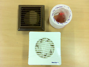 Vent Axia Toilet Bathroom Extractor Fan Flexiduct And