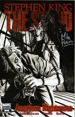 signed THE STAND AMERICAN NIGHTMARES 1 1st print MIKE PERKINS stephen king COMIC