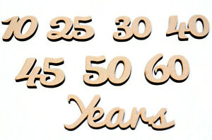 Wooden-mdf-Script-Words-Family-Frames-Celebration-Anniversary-Years-with-Number