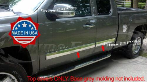 "2007-213 GMC Sierra Body Side Molding Extended Cab 4 1//4/"" Overlay Cover"