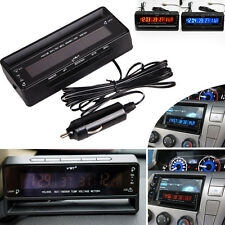 Auto Car Temperature Voltage Clock Thermometer Meter Monitor Digital LCD Play