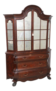 Antique-Dutch-Marquetry-Bookcase-Display-Cabinet-Great-TV-Cabinet