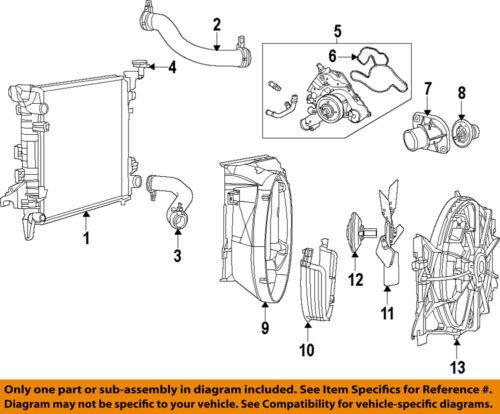 Ram CHRYSLER OEM 14-17 3500-Engine Water Pump 4893133AD