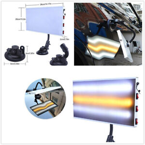 3 Strips Paintless Dent Repair Tool LED Light Hail Removal Car Body Lamp USB 5V#